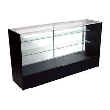 "Economy Black Glass Display Case Showcase 48"" L - New York Pickup Only"