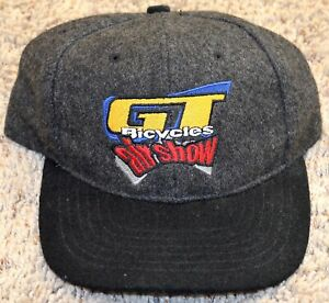 GT Bicycles Air Show Factory Team Hat NOS, Rare, Custom Embroiderd Grey/Black