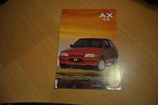 DEPLIANT Citroën AX Spot de 1990