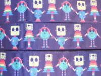 ROBOTS RIBBON-5 YARDS-7/8 INCH GROSGRAIN (really cute ribbon)