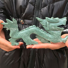 1pcs Natural jade carving dragon aura jade quartz crystal specimen collection D8