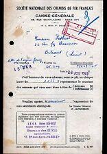 """PARIS (XIX° & IX°) CHEMIN DE FER de PARIS """"BUREAU de DETAXE"""" en 1949"""