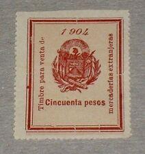 El Salvador, 1904, Cincuenta Pesos, Revenue, Single, Mnh, Very Rare! Nice! Lqqk
