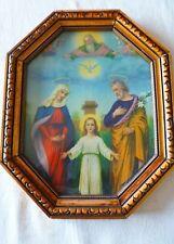 Bild Heilige Familie – kleiner Jesus – goldfarbener Rahmen