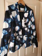 BNWT Womens Satin-Look Bold Floral Print River Island Blazer. Size 10.
