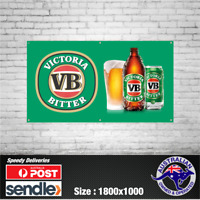 Victoria Bitter VB - The Mancave Bar Beer Spirits Shed Pub Stubby Glass Ice Cold
