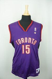 Toronto Raptors Champion 40 Vince Carter NBA basketball Jersey EUC