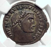 MAXIMINUS II Daia Authentic Ancient Alexandria Roman Coin w GENIUS NGC i80521