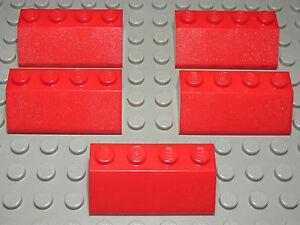 Lego Stein abgerundet 2x2x0,6 Rot 2 Stück 766 #