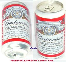 Y2K 2000 Budweiser Millennium Ltd Edition Beer Can Anheuser-Busch Saint Louis,Mo