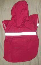 New listing Xs Raspberry Guardian Gear Hooded Rain Jacket Waterproof Safety Reflective Strip