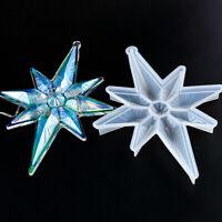 Resin Casting Mould Snowflake Tool Christmas Pendant Silicone Epoxy Mold DIY