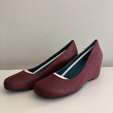 Chocolat  Blu Ynez Burgundy Wedge Leather Shoe 8 Slip On