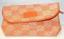 Cargo Los Cabos Orange Straw Woven Zippered Make Up Bag clutch Cosmetic Travel B