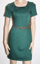 Perzoni Italy Brand Green Short Sleeve Belted Dress Size 42-S BNWT #SN84