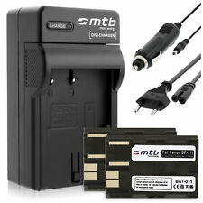 2x Batteries BP-511 + Chargeur pour Canon FV300-Kit, FVM1, FVM10, MV30, MV30i
