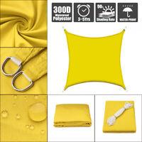 Sonnensegel Sonnenschutz Schattenspende Wasserdicht Rechteck 96% UV Schutz Gelb