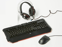 SameDay Ship! Tzumi Alpha 3Pc Gaming Combo Keyboard Mouse Headset for PC Console