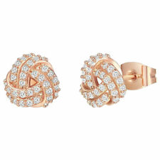 14K Gold Plated Sterling Silver Post Love Knot Stud Earrings for Women