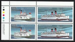 STEAMSHIP SEGWUN 1887 PRINCESS MARGUERITE 1948 = Canada 1987 #1140a MNH UL Block