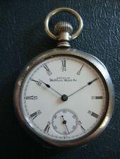 Not Running Balance Staff Not Broken Waltham Antique Coin Silver Pocket Watch