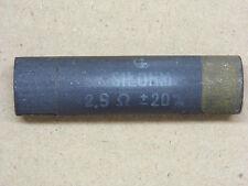 Résistance Carbone non inductive 2.5 ohms 2R5 Silohms d:17mm lg:70mm