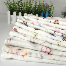 10pcs/Set Cartoon Square Cotton Bath Wash Baby Towel Handkerchief Soft Vogue