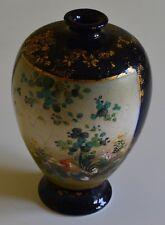Antique Japanese SATSUMA Coquelet vase signé Gold guilding