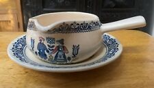 Johnson bros-Old Granite Hearts and Flowers Gravy Boat and Saucer