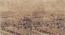 Constantinople Turquie Stéréo decollée de son carton Vintagealbumine ca 1860