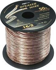 50 ft. 16 Gauge High Performance Speaker Wire, Oxygen Free Pure Copper UL Listed