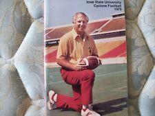 1979 IOWA STATE CYCLONES FOOTBALL MEDIA GUIDE Yearbook Press Book Program ISU AD