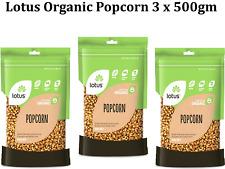 3 x 500g LOTUS Organic Popcorn ( 1.5kg )