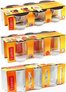 Termisil 6 x Kaffeegläser Teegläser Cappuccino Gläser mit Henkel hitzebeständig