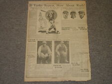 September 24, 1922 'The Humboldt Times' Newspaper Page-Babe Ruth-Yankees