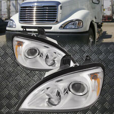 Fits 96-11 Freightliner Columbia CL120 Chrome Projector Headlights Set