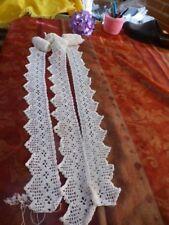 coton fait main dentelle 5mx7cm bas de rideaux   jupons ,retours literie etc...