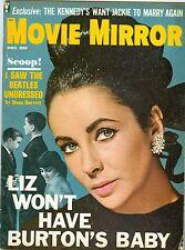 Elizabeth Taylor cover Movie Mirror magazine 1964 The Beatles Ann Margret more