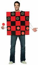 CHECKERS BOARD checkerboard Funny  game adult mens womens halloween costume New
