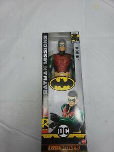 """Open Box DC Comics Batman Missions ROBIN True Moves 12"""" Action Figure New"""