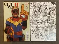 Civil War II #4 Lot 2016 1:10 Phil Noto & Sketch 1st App Immortal She-Hulk NM☝️
