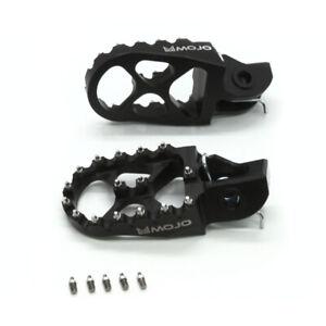 MOJO KTM Footpegs Black - Billet 7075 Aluminum   MOJO-KTM-FP2-BLK