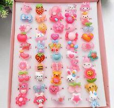 10Pcs Lot Wholesale Mixed Lots Cute Cartoon Children/Kids Resin Rings Jewelry F