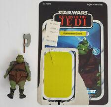 Vintage Kenner Star Wars Gamorrean Guard figure with ROTJ backer card Complete