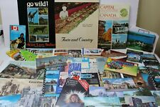 Vintage Canada Paper Souvenir Items - Brochures Booklets Postcards And More