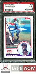 1983 TOPPS #49 WILLIE McGEE RC CARDINALS PSA 9 A3153193-840