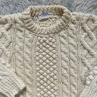 Macys Vintage 60s Large Womens Cable Knit Sweater Wool Made in Italy