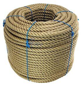 24mm Natural Jute Rope x 20 Metres, Decking Rope, Garden, Boating, Sash,Camping