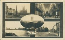 Real photo Selby 5 views bowthorp, river ouse, abbey & market place W bramley