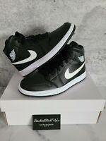 Nike Air Jordan 1 Mid Black White BQ6472-011 Women's Size